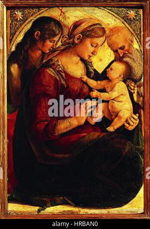 a overview of the painting madonna and child with saint jerome by matteo giovanni -the development of this type of madonna and child in netherlandish art: -st jerome with lion tribute to giovanni bellini's san zacharia altarpiece.