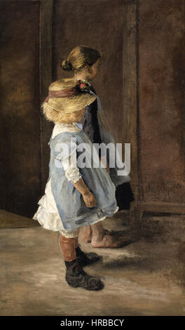 Fritz von Uhde - Kinderstudie - Stock Photo