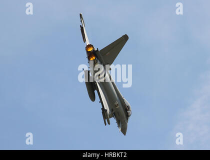 Royal Air Force Eurofighter Typhoon FGR.4  - Farnborough Airshow - Stock Photo