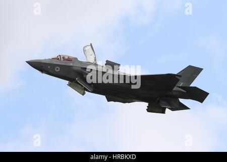 Royal Air Force Lockheed Martin F-35B  - Farnborough Airshow - Stock Photo
