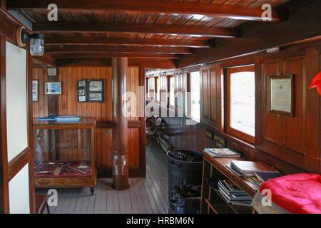 Interior of the Century-old Motor Vessel Katahdin - Stock Photo