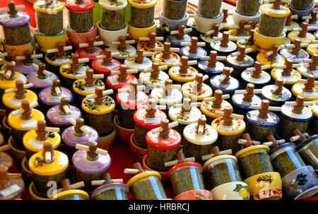 herb of provence on market Marseille, Bouches-du-Rhone, France - Stock Photo