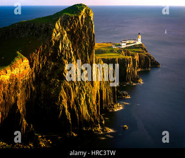 GB - SCOTLAND:  Neist Lighthouse on the Isle of Skye - Stock Photo