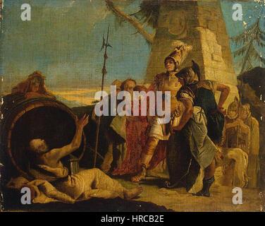 Giovanni Battista Tiepolo - Alexander the Great and Diogenes - Stock Photo