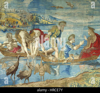 Raphael, The Miraculous Draught of Fishes. Vatican Museums - Stock Photo