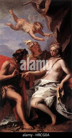 Sebastiano Ricci - Bacchus and Ariadne - WGA19434 - Stock Photo