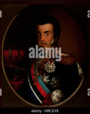 Simplicio Rodrigues de Sa - Portrait of Dom Joao VI (ca. 1820) - Google Art Project - Stock Photo
