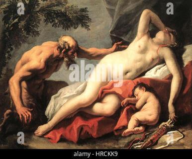 Sebastiano Ricci - Venus and Satyr - WGA19428 - Stock Photo