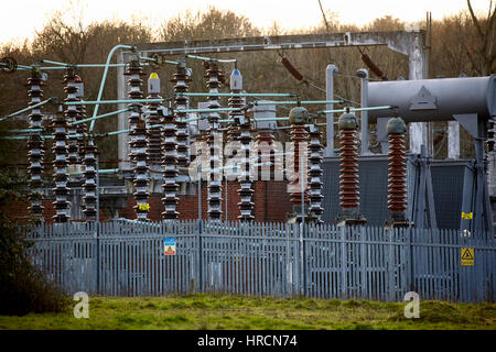 Close-up  of a sub station in North London - Stock Photo