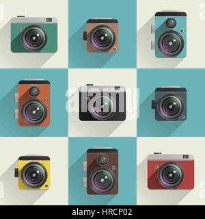 Camera icons - Stock Photo