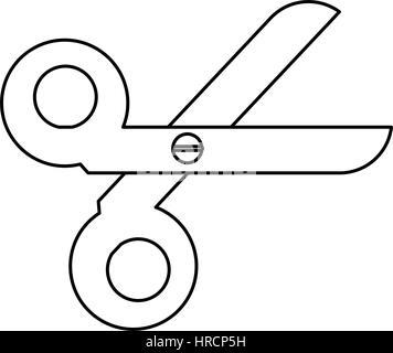 scissorsschool tool thin line - Stock Photo