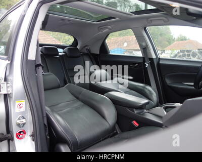 Leather Interior Design Car Passenger And Driver Seats Clean