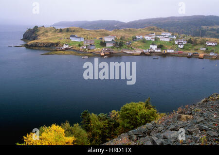 Harbour Mille East, Burin Peninsula, Newfoundland and Labrador, Canada - Stock Photo