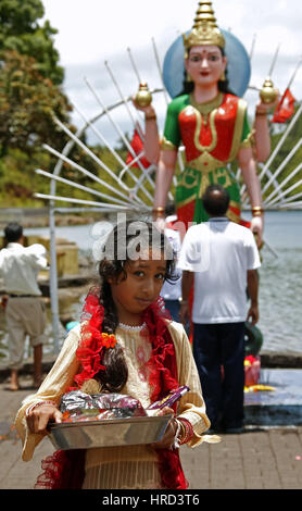Mauritius, Grand Bassin, Heiliger See, Hinduistische Heiligtuemer, Beten, Meditieren, Mauritius, a holy lake for - Stock Photo