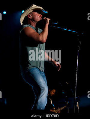 Kenny Chesney performs at Stagecoach Country Music Festival in Indio, California on April 26, 2009. - Stock Photo