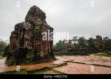My Son Ruins & Sanctuary are set in a small valley in Quang Nam Province, about 40km from Hoi An City. Of the Cham - Stock Photo