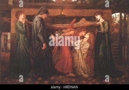 Dante Gabriel Rossetti - Dante's Dream at the Time of the Death of Beatrice (1871) - Stock Photo