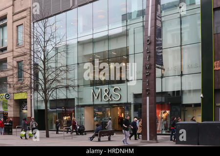 The Marks & Spencer store in Donegall Place, Belfast, Northern Ireland. - Stock Photo