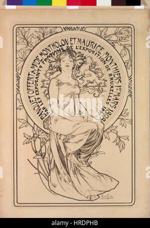 Autor Alfons Mucha 24.7.1860-14.7.1939 - Plakat na banket