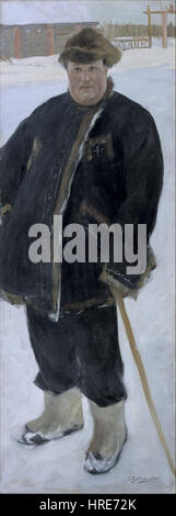 Boris Mikhailovich Kustodiev - Portrait of landowner A P Warfolomev - Google Art Project - Stock Photo