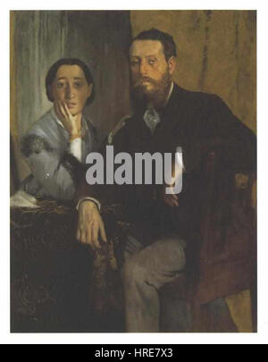 Degas - Das Ehepaar Morbilli - Stock Photo