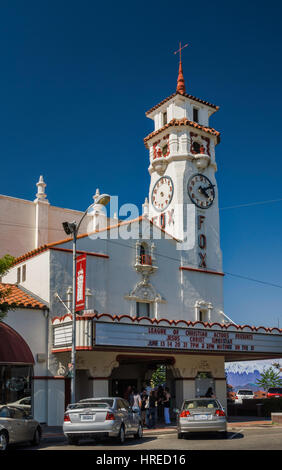 Fox Theatre on Main Street, Visalia, California, USA - Stock Photo