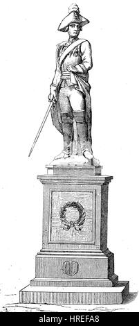 The memorial of Friedrich Wilhelm Freiherr von Seydlitz in Kalkar, Germany, Friedrich Wilhelm Freiherr von Seydlitz, - Stock Photo