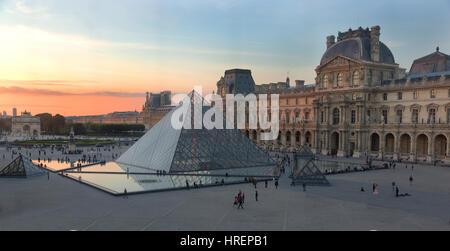 Louvre, Paris, France - Stock Photo