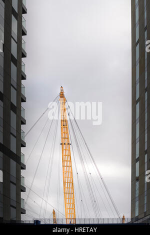 Millennium dome, now named O2, next to the river Thames at Greenwich, london, England. - Stock Photo