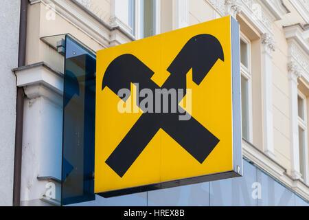 VIENNA, AUSTRIA, JANUARY 26th, 2018 - Raiffeisenbank is the leading consumer bank in Austria ans Central Eastern - Stock Photo