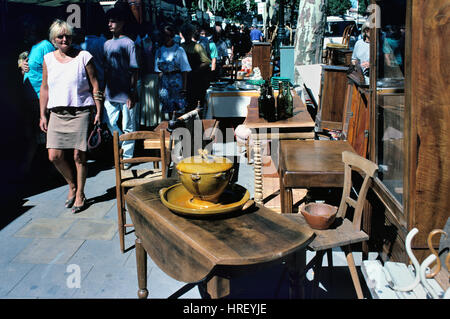 brocante stall on the cours sayeya market in old nice. Black Bedroom Furniture Sets. Home Design Ideas