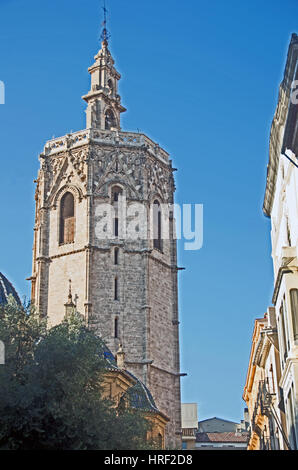 Miguelete Bell Tower, Valencia Cathedral, Spain, Europe - Stock Photo