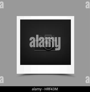 icon paper photo - Stock Photo