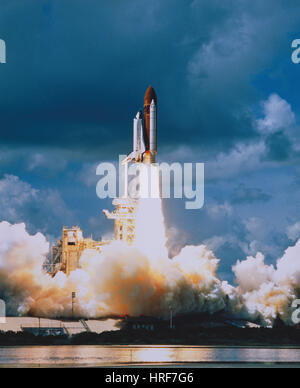 STS-34, Space Shuttle Atlantis Launch, 1989 - Stock Photo