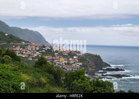 Coastline near Ponta Delgada, Madeira, Portugal, Europe - Stock Photo
