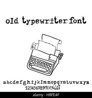 vintage grunge letters old destroyed printed letters stock photo