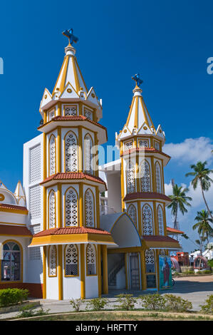 Our Lady of Health Church Pondicherry Tamil Nadu India - Stock Photo