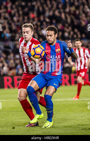 Barcelona, Catalonia, Spain. 1st Mar, 2017. FC Barcelona forward NEYMAR JR. in action during the LaLiga match between - Stock Photo
