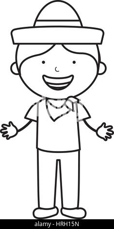 colombian little boy character - Stock Photo
