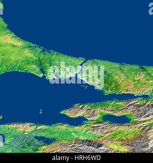 Bosporus Strait and Istanbul, Turkey - Stock Photo