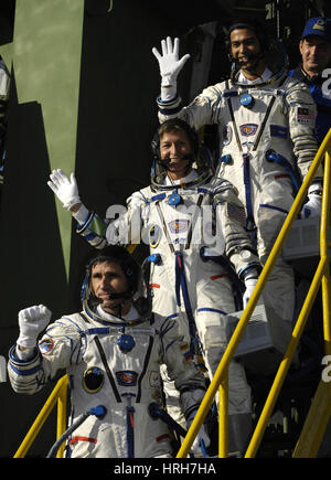ISS Expedition 16 crew - Stock Photo
