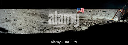 Neil Armstrong on moon - Stock Photo
