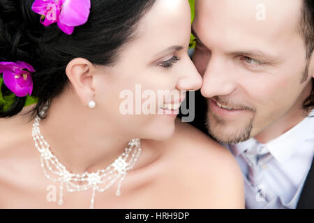 Model released, Brautpaar - bridal couple - Stock Photo