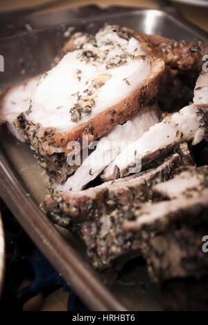 Schweinsbraten - roast boar - Stock Photo