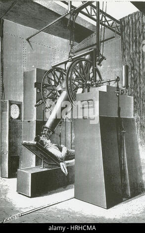 Giant telescope at the 1900 world exhibition in paris - Stock Photo