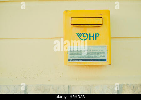 Kroatischer Briefkasten, Cres - Croatian post box - Stock Photo