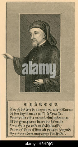 Geoffrey Chaucer, Father of English Literature - Stock Photo