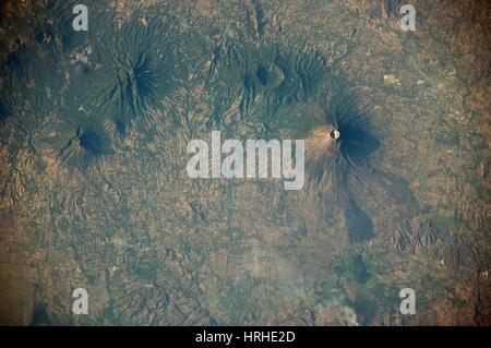 Volcanoes near Usulutan, El Salvador - Stock Photo