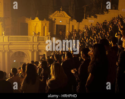 Audience at a gig, Brixton Academy - Stock Photo