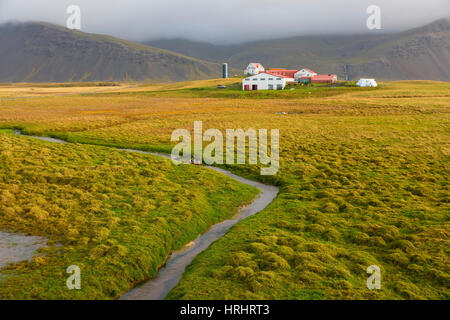 Farm near Hofn, Iceland, Polar Regions - Stock Photo
